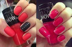 nail art summer colors | loving the colors