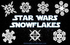 Pinning only bc I love my husband! Star Wars Snowflakes
