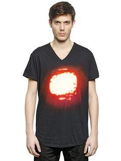 Ann Demeulemeester - Sun printed t-shirt - LUISAVIAROMA - WORLDWIDE SHIPPING