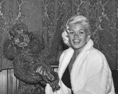 "Jayne Mansfield with Siegi's dog ""Buster"" (1950)"