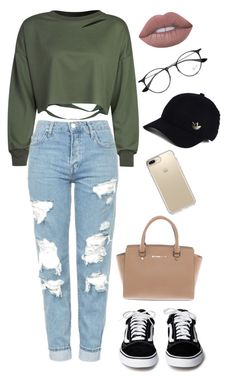 """"""""""" by maditweet on Polyvore featuring WithChic, Topshop, Michael Kors, Speck, adidas, Ray-Ban and Lime Crime"""