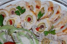 Rulada din piept de pui cu omleta si masline