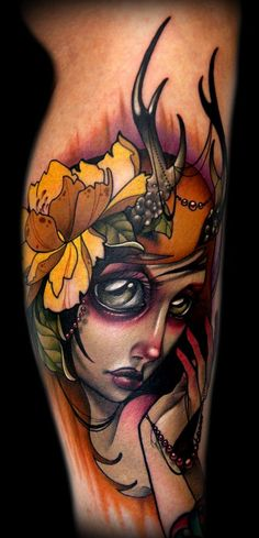 Autumn Deer Lady tattoo *****,  Go To www.likegossip.com to get more Gossip News!