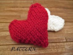 diy PDF PATTERN - Knit Heart Instand Download - MERCIFUL - Valentine's Day Heart - Tiny Pillow Pattern - How to Knit a Heart on Etsy, $3.00