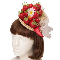 Angelic Pretty, Two Hands, Gothic Lolita, Pretty Hairstyles, Strawberries, Berry, Ribbon, Hair Accessories, Mini