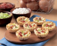 Hosting company? These Cheesy Quiche Bites are loaded with flavor and ready in half an hour. Ingredients: 2/3 cup Daisy Cottage Cheese 1/3 cup finely shredded Swiss cheese 2 tablespoons finely chop…
