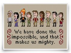 Firefly Cross Stitch Pattern   Serenity Geek by crossstitchheroes, $4.50 -- I gotta say, this made me smile.