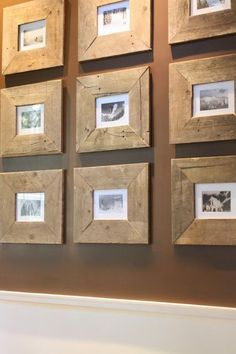 Reclaimed Wood-A Hot Trend & 15 Fabulous Ideas For Using It- Frames by My Sweet Savanah