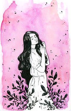 Watercolor and ink in moleskine Ellen Wilberg