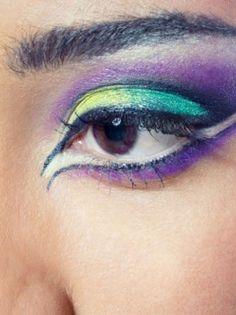 Purple,Yellow,Aqua and white