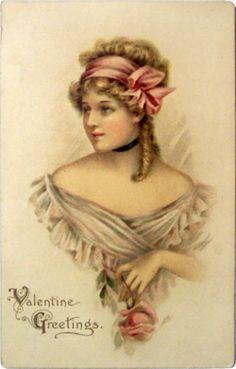 Victorian Woman Valentine