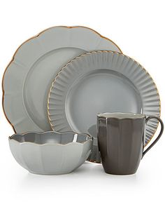 Marchesa by Lenox Dinnerware, Shades of Grey Collection - Dinnerware - Dining & Entertaining - Macy's