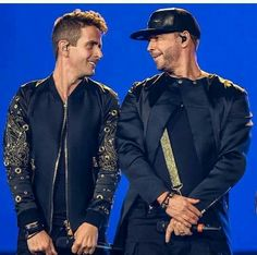 Both....really handsome Joey McIntyre Donnie Wahlberg