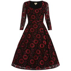 'Lisette' Red Black Lace Party Dress  #ICanPinARainbow -Lindy Bop!!