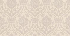 Bohemian Damask (W621-07) - Sheila Coombes Wallpapers - A traditional crown and tulip style all over damask with a hand painted effect. Shown in the soft chocolate brown on stone cream colourway. Please request sample for true colour match.