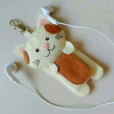 Porta fone de Ouvidos gatinho