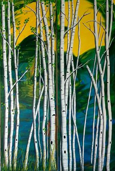 """Down By The Pond 24"""" x 36"""" Diptych"""