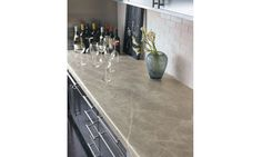 This is Formica Soapstone applied to kitchen counter.  Beautiful and functional while being cost effective