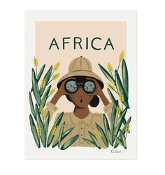 Africa Travel Illustrated Art Print