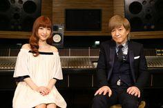 「#RUN」ボーカルレコーディングの様子。神田沙也加、小室哲哉。