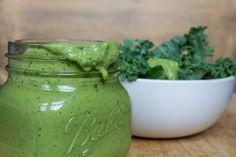 Vegan Green Dressing | The Foodie Dietitian @karalydon