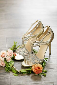 Glitzy Ivanka Trump Shoes -- More wedding inspiration on #smp here: http://www.StyleMePretty.com/2014/05/13/brooklyn-wedding-inspiration-built-for-two/ Photography: AmyAnaiz.com