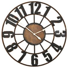 The Old Station Wall Clock from Urban Barn is a unique home décor item. Urban Barn carries a variety of Clocks and other  products furnishings.