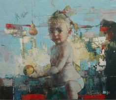 "Waclaw Sporski ""Indigo"" 70x60 Oil On Canvas sporskiart.com"