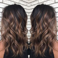 60 Chocolate Brown Hair Color Ideas for Brunettes – Shiny Light Brown Balayage … – dark hair styles Brown Hair Balayage, Brown Blonde Hair, Hair Color For Black Hair, Hair Color Balayage, Brown Hair Colors, Dark Balayage, Black Brown Hair, Haircolor, Black Hair With Balayage