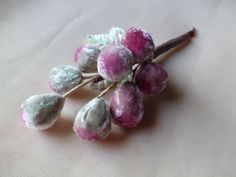 Velvet Millinery Grapes in Mauvey Pink Ombre for Hats, Costumes, Wreaths, Garlands