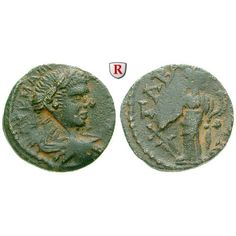 Römische Provinzialprägungen, Seleukis und Pieria, Gabala, Caracalla, Bronze, ss: Seleukis und Pieria, Gabala. Bronze 22 mm. Kopf r.… #coins