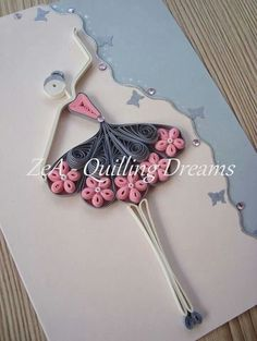 Pretty quilled ballerina