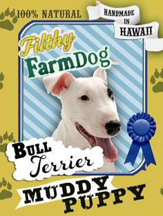 Bull Terrier Muddy Puppy Dog Soap