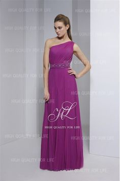 A-line Purple One-shoulder Floor-length Chiffon Evening Dress pmp18  http://www.mydresspro.co.uk/17-evening-dresses