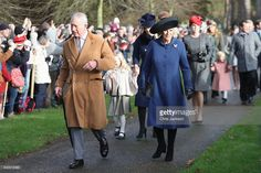 TRH The Prince of Wales and The Duchess of Cornwall attend a Christmas Day church service at Sandringham on December 25, 2016 in King's Lynn, England.  (Photo by Chris Jackson/Getty Images)