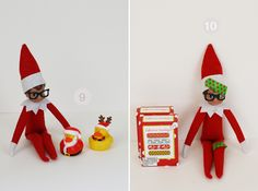 Bandaged up Elf on the Shelf - more ideas on this blog...including a Lego mini figure one!