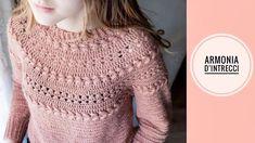Crochet Winter, Crochet For Kids, Crochet Baby, Knit Crochet, Crochet Jacket, Crochet Blouse, Basic Crochet Stitches, Crochet Woman, Knitting Tutorials
