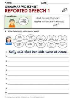 English Grammar Reported Speech 1 (from Present Simple statements) http://www.allthingsgrammar.com/reported-speech.html