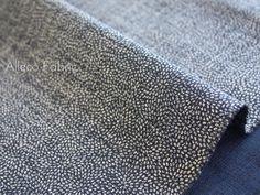 Tessuto giapponese - Japanese Indigo dyeing style -small polka dot- - un prodotto unico di Alleco su DaWanda