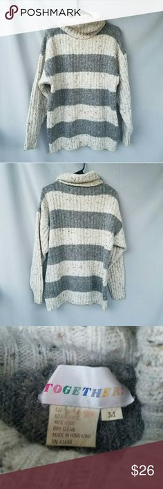 Vintage Striped Sweater Love this!  Feel free to ask me any additional questions! Bundles 3+ 15% off. Happy Poshing! Vintage Sweaters