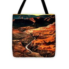 """Sunset Grand Canyon West Rim Tote Bag 16"""" x 16"""" by  Dr Bob and Nadine Johnston"""