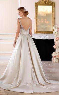 6447 Ball Gown Wedding Dress with Sash by Stella York