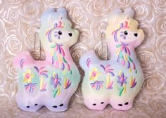 Hey, I found this really awesome Etsy listing at https://www.etsy.com/listing/466029768/rainbow-llama-embroidered-plush-ornament