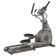 The Spirit Fitness CE800 Elliptical Trainer has a heavy duty steel frame and durable powder coating paint finish. The design focuses on convenience, comfort, reliability, and aesthetics.