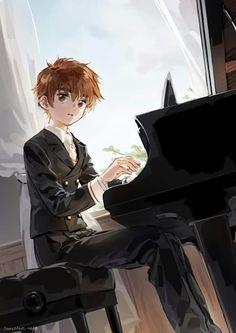 Que hermosos se ve Shaoran mientras toca el piano (*/ω\*)