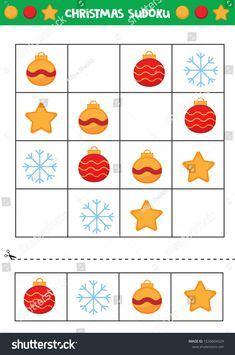 Find Christmas Sudoku Kids Educational Game Kids stock images in HD and millions of other royalty-free stock photos, illustrations and vectors in the Shutterstock collection. Thousands of new, high-quality pictures added every day. Winter Activities, Activities For Kids, Busy Boxes, Educational Games For Kids, Image Vector, 3rd Grade Math, Diy For Kids, Royalty Free Images, Holiday