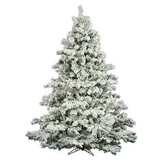 Vickerman Flocked Alaskan Pine Tree with 2059 Tips 9Feet by 73Inch ** Click on the image for additional details.