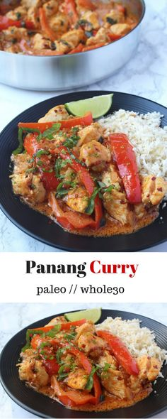 Penang Curry - this Panang Curry from the Fed+Fit Cookbook is all you need! It is easy to make, packs the flavor, and is paleo, Fed+Fit project compliant, and Whole30 approved! - Eat the Gains