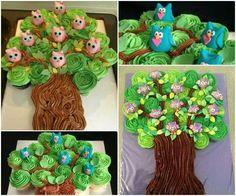 Owl tree cupcakes.. so cute.