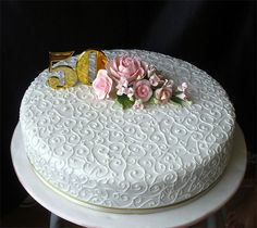 50th Wedding Anniversary Cake | Flickr - Photo Sharing!